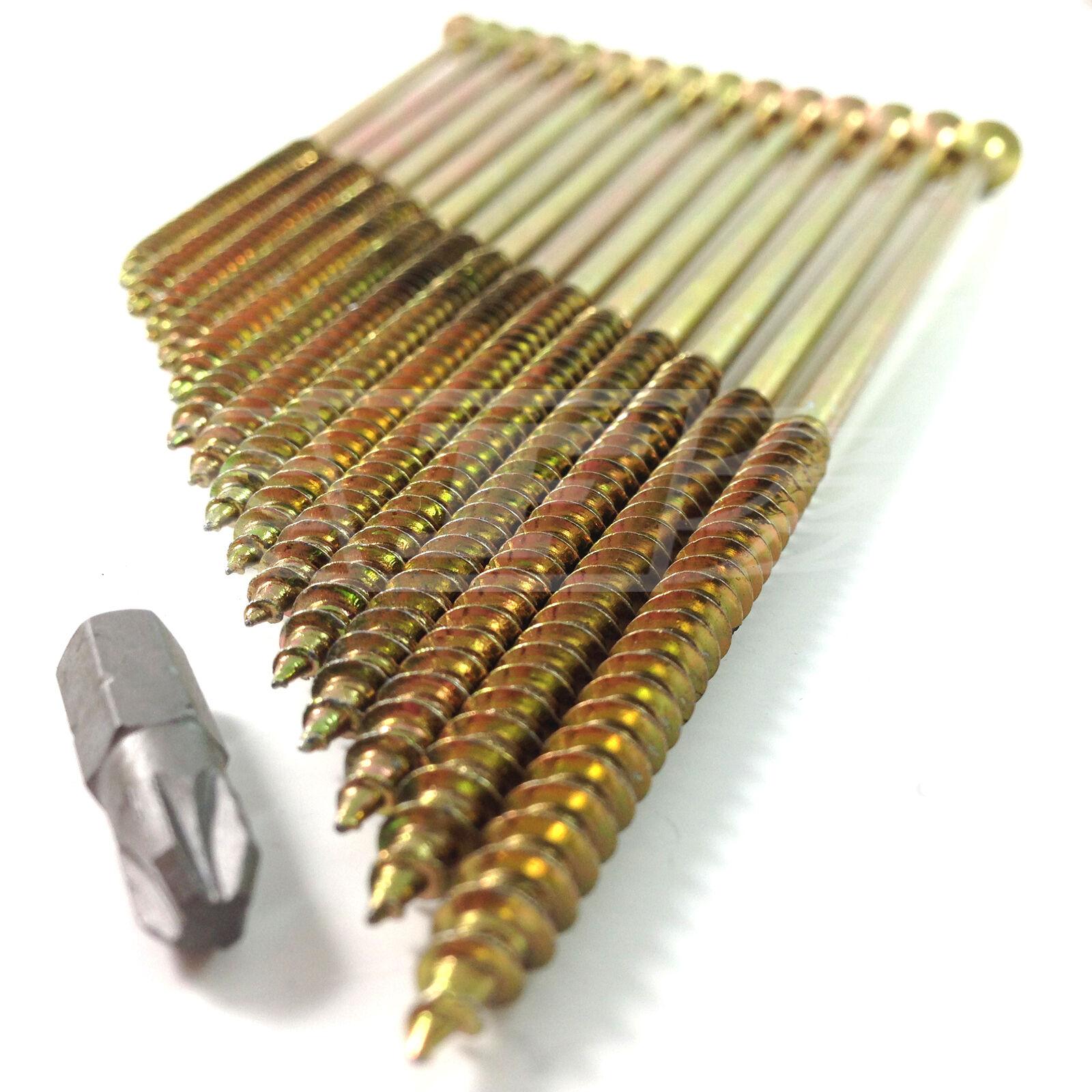 150mm (6 ) 12g TIMCO PROFESSIONAL CLASSIC LONG WOODSCREWS POZI CSK GASH POINT