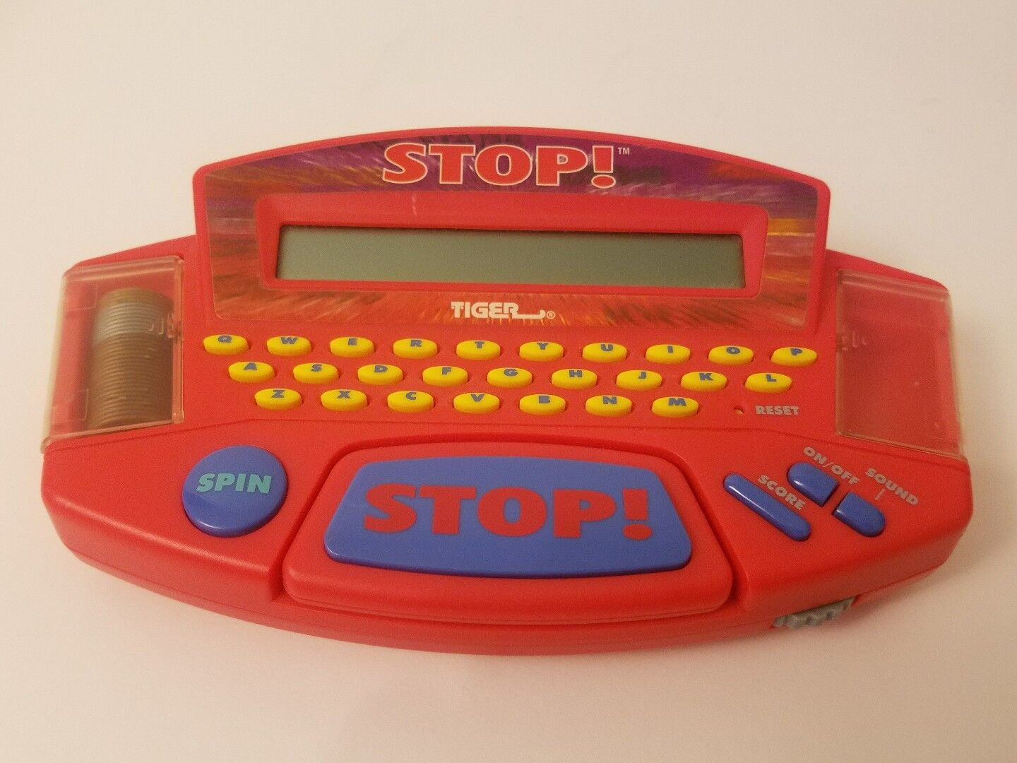 Tiger Electronics STOP Fill-in-the-Blank Electronic Word Game 1998