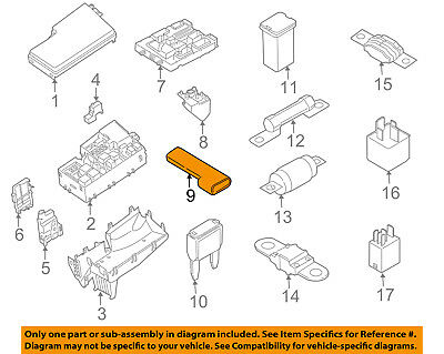 FORD OEM 08-11 Focus 2.0L-L4 Fuse Relay-Diode YS4Z10C912AA