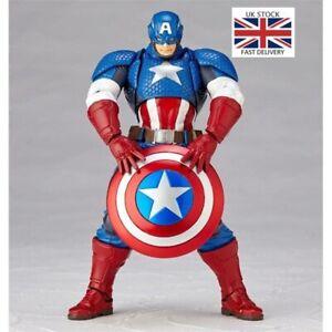 Avengers-Series-Captain-America-Action-Figure-Revoltech-Yamaguchi-Heroes-Toys