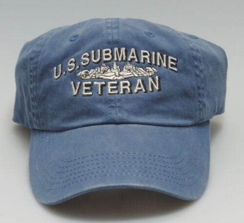 NAVY Adjustable Cap-Silver Dolphins SUBMARINE VETERAN U.S