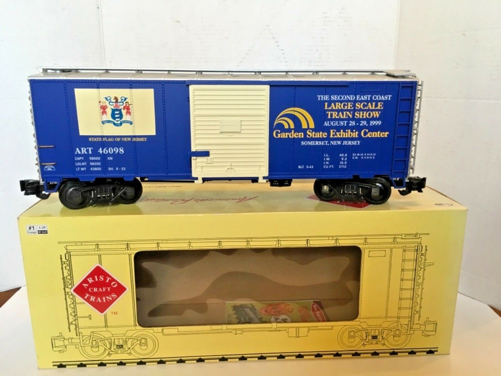 Aristocraft Steel Box Car No. ART-46098 1999 East Coast Coast Coast Large Scale Show 5956f1