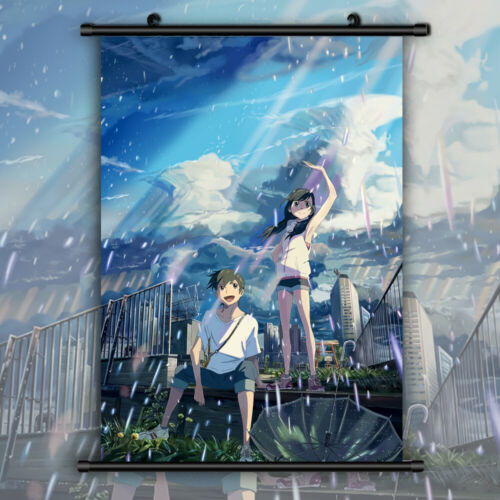 Weathering with You Amanohina HD Canvas Print Wall Poster Scroll Room Decor