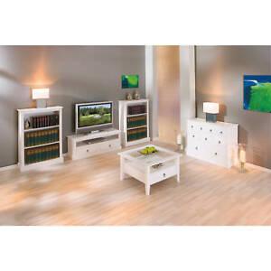 Table-basse-de-salon-carre-avec-rangements-moderne-campagnard-bois-massif-BLANC