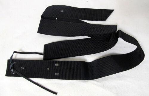 New Horse Tack Economy Single Ply Black Nylon Saddle Tie Strap 6ft.