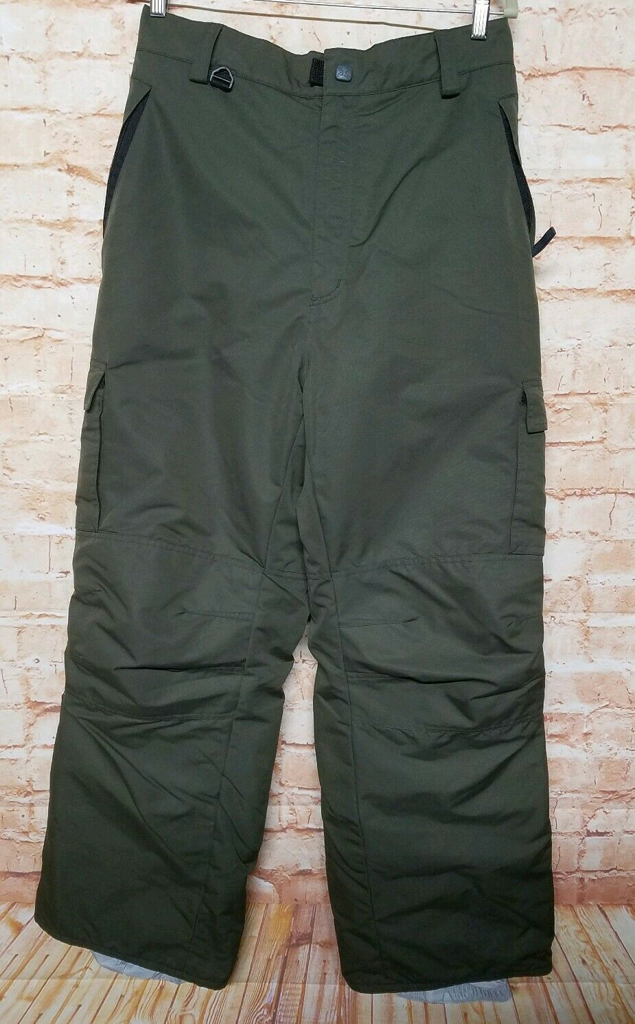 TURBINE Olive Green Nylon Men Size XL Winter Snow Ski-board Pant Waterproof 45