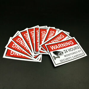CCTV-VIDEO-Security-Warning-Sticker-Home-Video-Surveillance-Sign-1-30-60-120PC