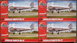 4x-AIRFIX-A08015-Douglas-DAKOTA-MK-IV-DAN-Air-1-72-Flugzeug-Bausatz-Kit