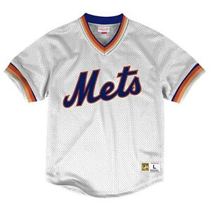the latest b2d32 277e8 Details about New MITCHELL & NESS MLB New York Mets MESH White JERSEY