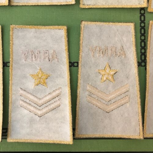 Lot 12 Army Style Fashion Embroidered Patch Iron On Sew On Gold Silver