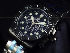 """RARE NEW Deep Blue LE Triple Black Combat Military """"Lumed Bezel"""" Sapphire Diver"""