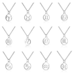 Silver-12-Constellation-Pendant-Necklaces-Zodiac-Signs-Stainless-Steel-Jewelry
