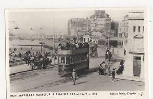 Margate-Harbour-amp-Thanet-Tram-c-1918-Repro-Postcard-235a