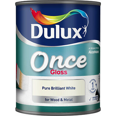 Dulux Once Gloss Pure Brilliant White 1.25ml Extra Value Pack