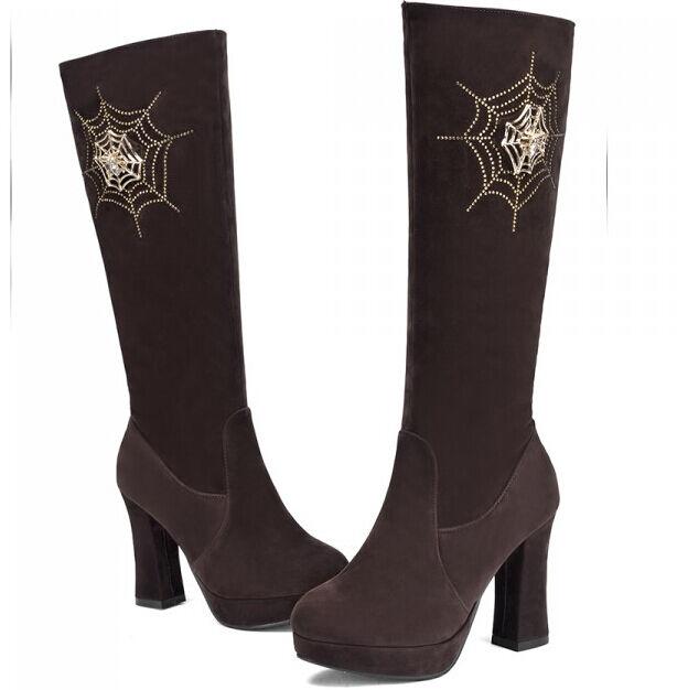 Botines botas zapatos militares mujer talón 10 cm como piel caldi cómodo 9114