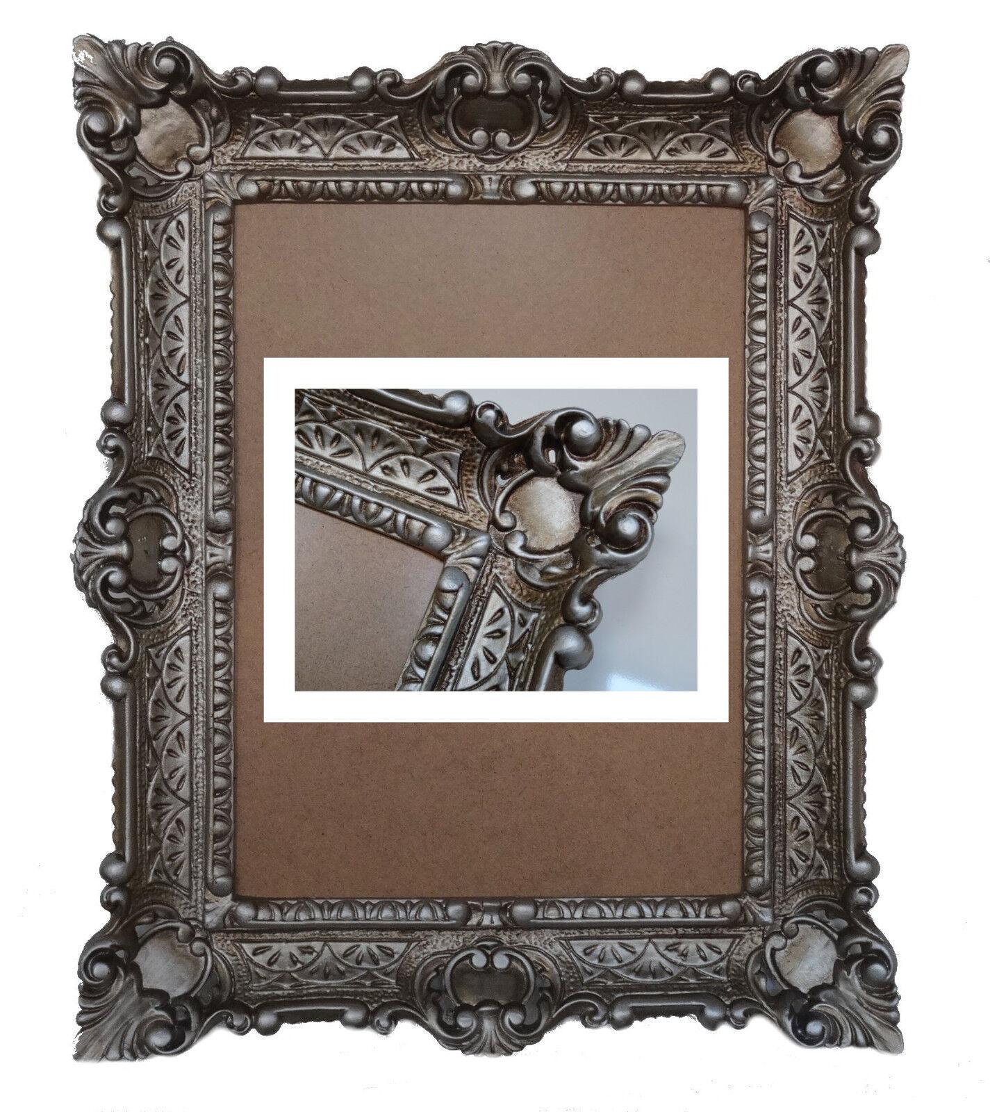 Altsilber Bilderrahmen Fotorahmen Rahmen mit Glas Barock Antik 30*40 ...