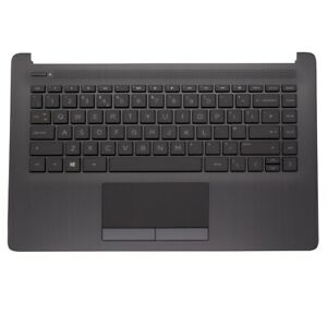 Replacement Palmrest Touchpad Cover UK Keyboard Black for HP 14-CK0598SA