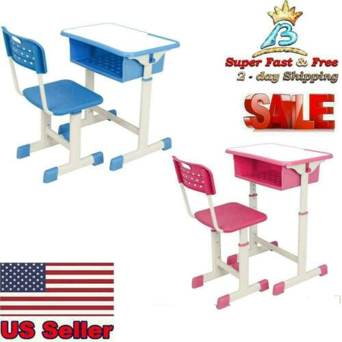Adjustable Children/'s Desk and Chair Set Child Study Kids Study Table US STOCK