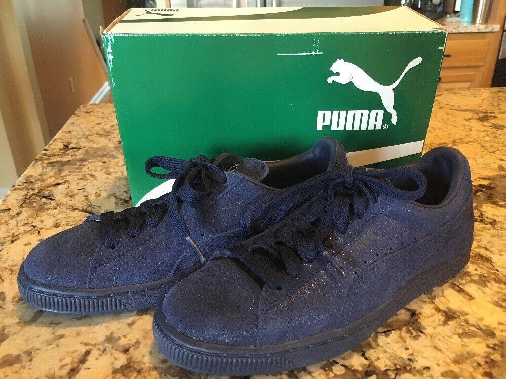New Puma Women's Suede Classic Matt & Shine Peacoat bluee Athletic shoes Size 7