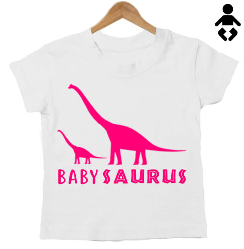 dinosaure Bébé Cadeau T Shirt Maman ensemble correspondant Momie Saurus//Baby Saurus
