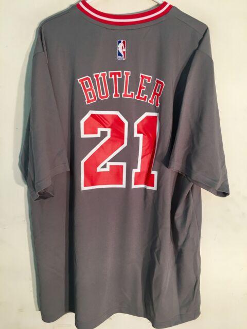 best sneakers 6fa6a 0a29f adidas NBA Jersey Chicago Bulls Jimmy Butler Grey Short Sleeve Sz XL