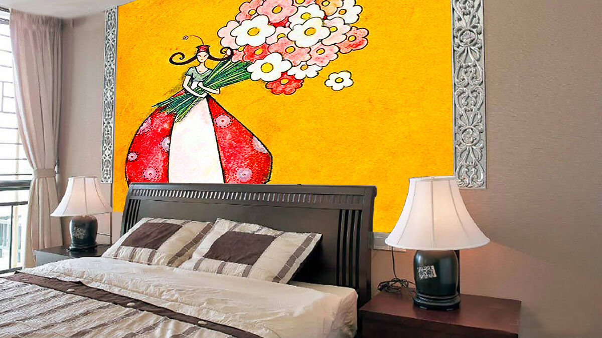 3D Cartoon Bouquets Painted Paper Wall Print Wall Decal Wall Deco Indoor Murals