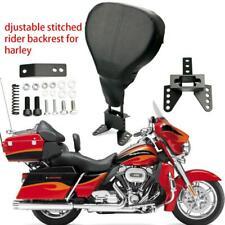 Adjustable Driver Rider Backrest For Harley Touring FLHX FLHR 09-18 15 16 17