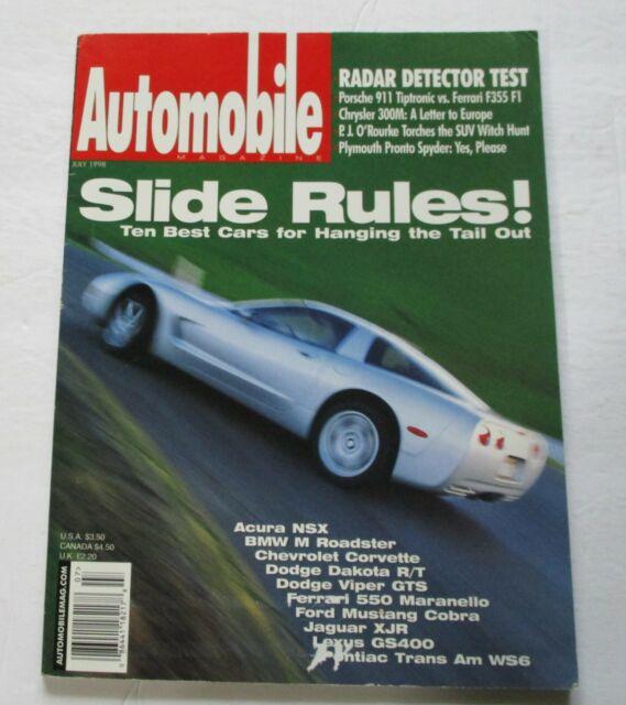AUTOMOBILE MAGAZINE JULY/1998...ACURA NSX...BMW M ROADSTER