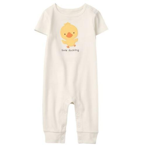 NWT Gymboree Little Duckling Baby Boys Girls White Easter One Piece Romper