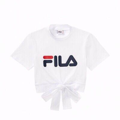 comprare popolare a8746 1e373 Fila - T-Shirt Donna Maglietta Lupetto Bianco Logo Vintage | eBay