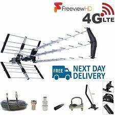 TV Aerial 4G Triple Boom 70 Element Freeview Digital HD Indoor Outdoor Full Kit