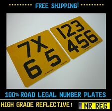 """MOTORBIKE REGISTRATION NUMBER PLATE SIZE 7"""" X 6.5"""" MOTORCYCLE"""