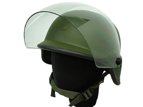 Tactical M88 Helmet Airsoft Military Paintball Goggles Visor OD