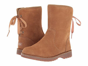 308a7bcfc06 Kids UGG Corene Boot 1005146K Chestnut Suede 100% Authentic Brand ...