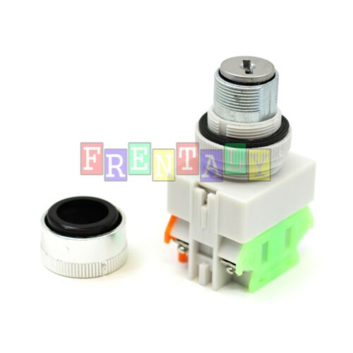 """Boxed Cased Heavy Duty On//Off Key Switch 22mm 7//8/"""" with 1-Hole Switch Box 2 Key"""