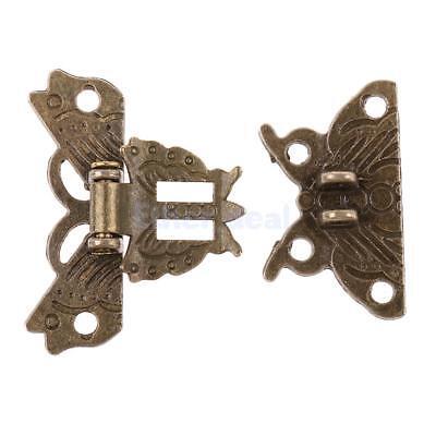 Antik Schmuckkästchen Riegel Bronze Holz Verschluss Schloss Haken Rechts Kasten