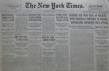 4-1931 APRIL 22 MAYOR WALKER OPEN TRIAL FOR FDR FOX. MAY GET NEW CHARGE