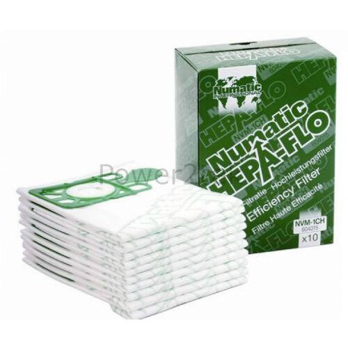 10 x NVM-1CH véritable poussière sacs pour aspirateur numatic henry micro henry micro HVR200M henry