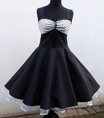 Rockabilly,Tanz,Konfirmation,Abiball,Abend,Kleid,Dress,34-54 Maß 50er,Petticoat