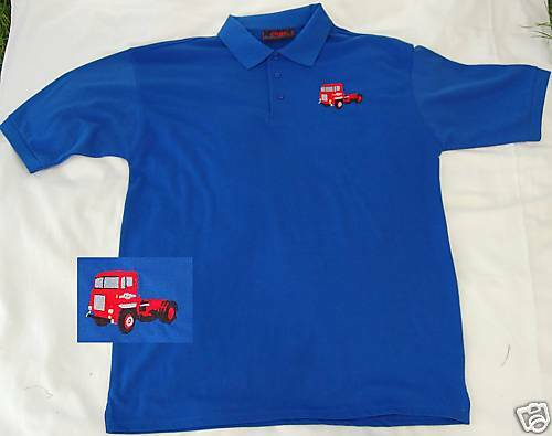 Scammell Crusader embroidered on Polo Shirt