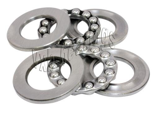 2 Thrust 6x12x4.5 Miniature Thrust Bearings 6mm//12mm//4.5mm