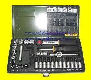 Proxxon 23080 Ratschenkasten 36tlg Nüsse Bits Knarre Antrieb 6
