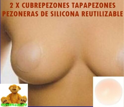 2 X CUBREPEZONES TAPAPEZONES PEZONERAS DE SILICONA REUTILIZABLES FORMA REDONDO