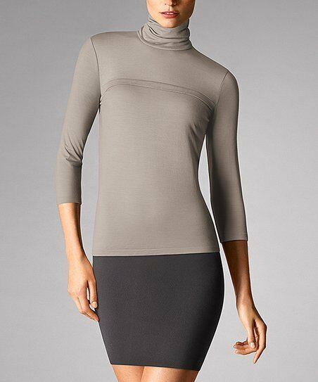 ✨ lumière Merino Pull BY WOLFORD ✨ op  350 S argent Cloud ✨ Soft Virgin Wool
