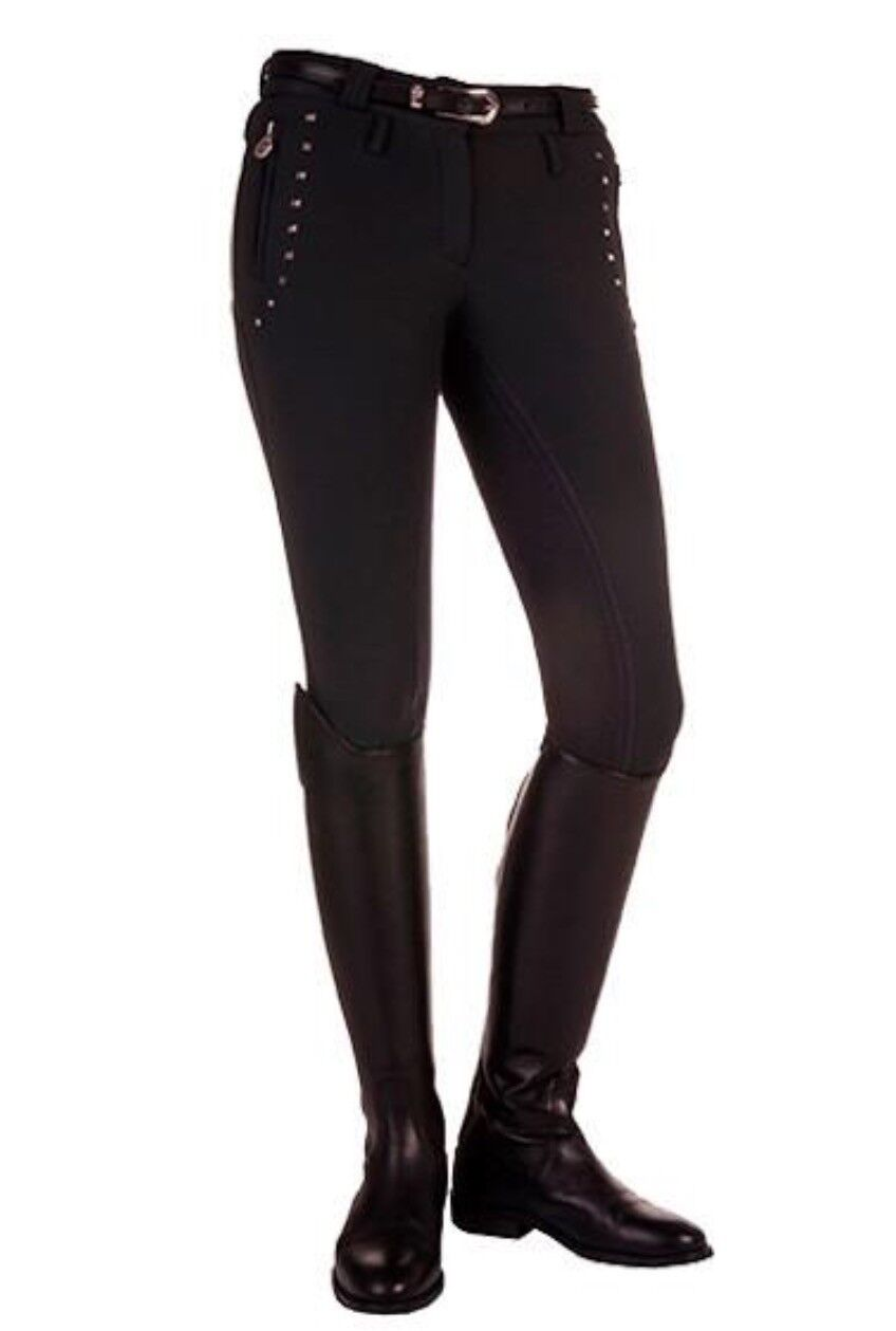 HKM LARIA ZETED SOFT SHELL Ladies BREECHES --UK 30  12 -WATER RESISTANT --9