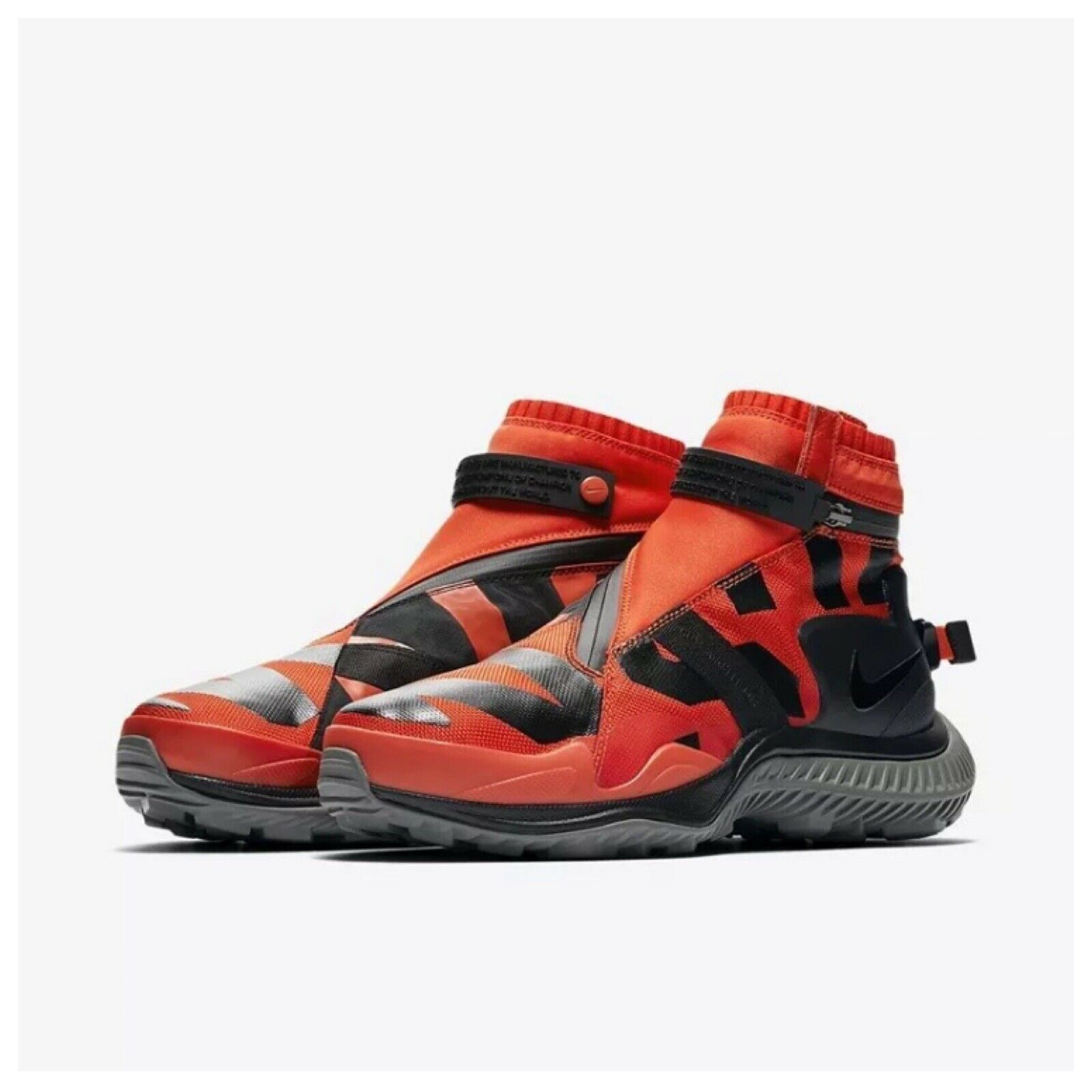 NEW Sz 10 Nike NSW NikeLab Sportswear Gaiter Boot orange Black AA0530-800  250