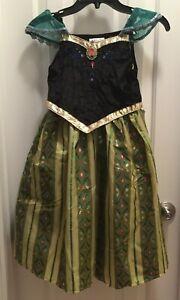 Frozen Princess Anna Coronation Dress Size M 7/8 Disney ...