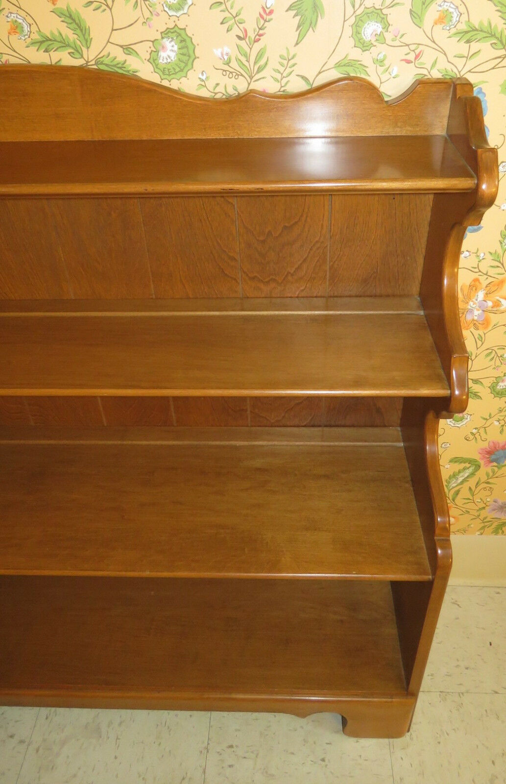 Ethan Allen Heirloom Nutmeg Maple Short Library Bookcase 10 918