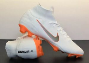 size 40 5387c 7516c Details about Nike Mercurial Superfly 6 Pro FG White-Orange Soccer Cleat  Men's 12 AH7368-107