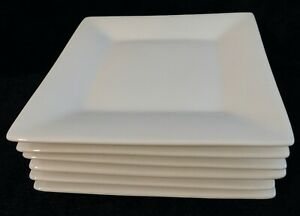 Set-of-6-CRATE-amp-BARREL-6-034-Square-White-Appetizer-Plates-2-sets-of-6-available